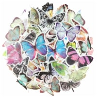 Wrapables Decorative Scrapbooking Washi Stickers for DIY Crafts (60 pcs), Butterflies - 1