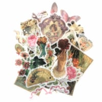 Wrapables Decorative Scrapbooking Washi Stickers for DIY Crafts (60 pcs), Romantic Vintage - 1