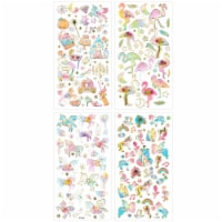 Wrapables 3D Epoxy Stickers for Scrapbooking, (4 Sheets) / Unicorns/ Flamingos/ Fairy Tales - 4 Sheets
