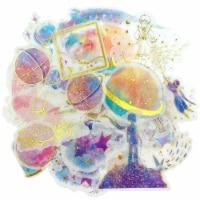 Wrapables Decorative Scrapbooking Washi Stickers (60 pcs), Gold Foil 1 (Celestial) - 1
