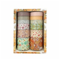 Wrapables Decorative Washi Tape Box Set for DIY Arts & Crafts (12 Rolls), Floral - 1