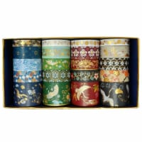 Wrapables Gold Foil Washi Tape in Gift Box Set (20 Rolls), Dancing Cranes - 1