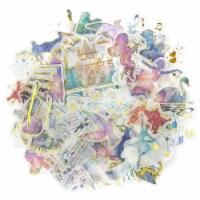 Wrapables Decorative Scrapbooking Washi Stickers (60 pcs), Gold Foil 4 (Music Magic) - 1