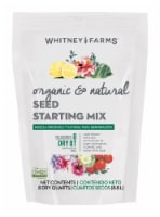 Whitney Farms Organic All Purpose Seed Starting Mix 8 qt - Case Of: 6; - Case of: 6