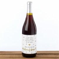 Kate Aspen 39004NA Bridal Party Proposal Wine Bottle Label - Classic, Set of 6 - 1