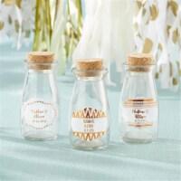 Kate Aspen 27074NA-CFG Vintage Milk Bottle Favor Jar - Copper Foil, Set of 12