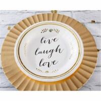 Kate Aspen 28364NA Live, Laugh, Love Paper Plates - Set of 8 - 8