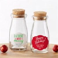 Kate Aspen 27074NA-HOL Vintage Milk Bottle Favor Jar - Holiday, Set of 12 - 1