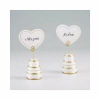 Kate Aspen 25341GD Gold Wedding Cake Place Card Holder, Set of 6 - 1