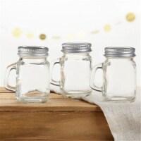 Kate Aspen 30049NA-DIY 4 oz Mini Mason Mug Shot Glass with Lid