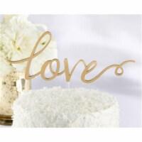 Kate Aspen 18092NA Gold Love Cake Topper - 1