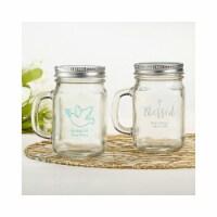 Kate Aspen 30048NA-RL 12 oz Personalized Mason Jar Mug - Religious - 1