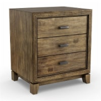 Furniture of America Muttex Transitional Wood 3-Drawer Nightstand in Natural Ash - 1
