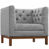 Panache Upholstered Fabric Armchair - Expectation Gray - 1