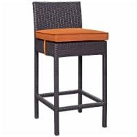 Convene Outdoor Patio Fabric Bar Stool - Espresso Orange - 1