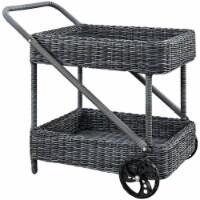 Summon Outdoor Patio Beverage Cart - Gray - 1