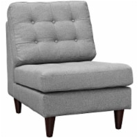 Empress Upholstered Fabric Lounge Chair - Light Gray - 1