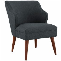 Swell Upholstered Fabric Armchair - Gray - 1