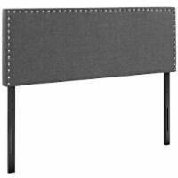 Phoebe Full Upholstered Fabric Headboard - Gray - 1
