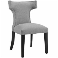 Curve Fabric Dining Chair - Light Gray - 1