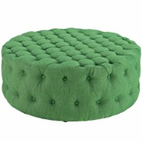 Amour Upholstered Fabric Ottoman - Kelly Green - 1