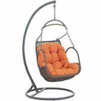 Arbor Outdoor Patio Wood Swing Chair - Orange - 1
