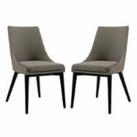 Viscount Dining Side Chair Fabric Set of 2 - Granite - 1