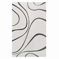 Therese Abstract Swirl 5x8 Area Rug - 1 unit