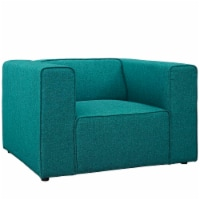 Mingle Upholstered Fabric Armchair - Teal - 1