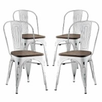 Promenade Dining Side Chair Set of 4 - White - 1