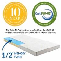 Relax 25 x 75 x 4 Tri-Fold Mattress Topper - - 1