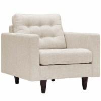 Empress Upholstered Fabric Armchair - Beige - 1