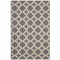 Cerelia Moroccan Trellis 8x10 Indoor and Outdoor Area Rug - Gray and Beige - 1