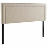 Jessamine Full Upholstered Fabric Headboard - Beige - 1