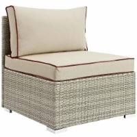 Repose Outdoor Patio Armless Chair - Light Gray Beige