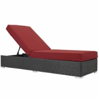 Sojourn Outdoor Patio Sunbrella Chaise Lounge - Canvas Red