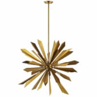 Pervade Starburst Brass Pendant Light Chandelier - 1 unit