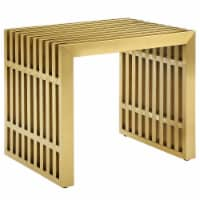 Gridiron Small Stainless Steel Bench - Gold - 1