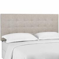 Paisley Tufted Full / Queen Upholstered Linen Fabric Headboard - Beige - 1