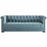 Heritage Upholstered Velvet Sofa - Sea Blue - 1