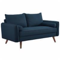 Revive Upholstered Fabric Loveseat - Azure - 1