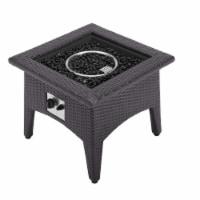 Vivacity Outdoor Patio Fire Pit Table - Espresso