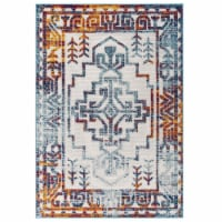 Nyssa Distressed Geometric Southwestern Aztec 5x8 Indoor and Outdoor Area Rug - Multicolored
