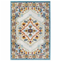 Ansel Floral Persian Medallion 8x10 Indoor and Outdoor Area Rug - Multicolored