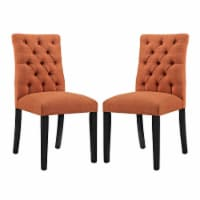 Duchess Dining Chair Fabric Set of 2 - Orange - 1
