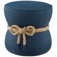 Beat Nautical Rope Upholstered Fabric Ottoman - 1