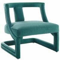 Requisite Accent Lounge Performance Velvet Armchair - 1