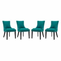 Marquis Dining Chair Fabric Set of 4 - Teal - 1