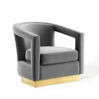 Frolick Performance Velvet Armchair Gray - 1