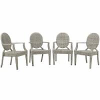 Casper Outdoor Patio Dining Armchair Set of 4 Light Gray